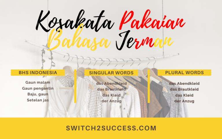 Kosa kata pakaian dalam bahasa jerman
